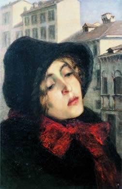Giovane donna in via San Marco, 1879/80